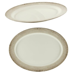21? X 15? / 530mm X 381mm Oval Platter, Jazz (Single)