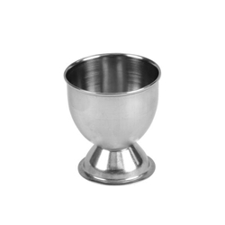 "51mm x 54mm / 2"" x 2 1/8"" H Footed Egg Cup, Stainless Steel"