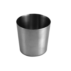 385ml / 13 oz, 100mm x 100mm / 3 3/8?x 3 3/8? Height French Fry Cup, Stainless Steel,  Satin Finished