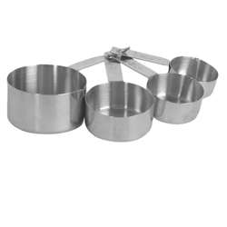 Stainless Steel Measuring Cup Set (1/4, 1/3, 1/2, 1cup)
