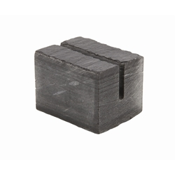 Genware Slate Cube Mini Sign Holder 3 x 2.5cm (Each) Genware, Slate, Cube, Mini, Sign, Holder, 3, 2.5cm, Nevilles