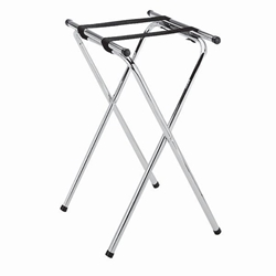 Double Bar Chrome Plated Tray Stand