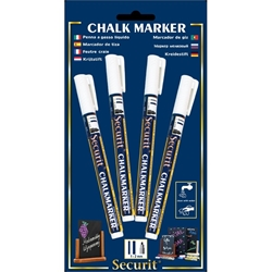 Chalkmarkers 4 Pack White Small (Each) Chalkmarkers, 4, Pack, White, Small, Nevilles