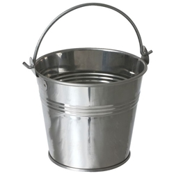 Stainless Steel Serving Bucket 12cm Diameter (Each) Stainless, Steel, Serving, Bucket, 12cm, Diameter, Nevilles