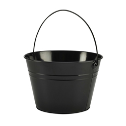 Stainless Steel Serving Bucket 25cm Diameter Black (Each) Stainless, Steel, Serving, Bucket, 25cm, Diameter, Black, Nevilles