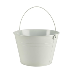 Stainless Steel Serving Bucket 25cm Diameter White (Each) Stainless, Steel, Serving, Bucket, 25cm, Diameter, White, Nevilles
