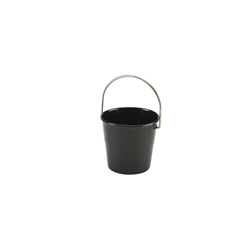 Stainless Steel Miniature Bucket 4.5cm Diameter Black (Each) Stainless, Steel, Miniature, Bucket, 4.5cm, Diameter, Black, Nevilles
