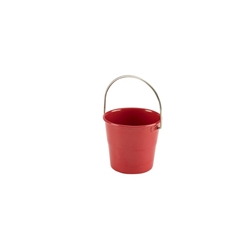 Stainless Steel Miniature Bucket 4.5cm Diameter Red (Each) Stainless, Steel, Miniature, Bucket, 4.5cm, Diameter, Red, Nevilles