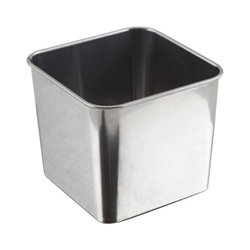 Stainless Steel Square Tub 8X8X6cm (Each) Stainless, Steel, Square, Tub, 8X8X6cm, Nevilles