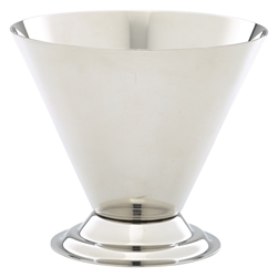 Stainless Steel Conical Sundae Cup (Each) Stainless, Steel, Conical, Sundae, Cup, Nevilles