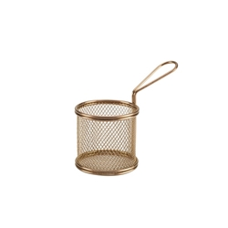 Copper Serving Fry Basket Round 9.3 x 9cm (Each) Copper, Serving, Fry, Basket, Round, 9.3, 9cm, Nevilles