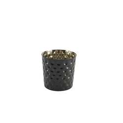 S/St. Serving Cup Hammered 8.5 x 8.5cm Black (Each) S/St., Serving, Cup, Hammered, 8.5, 8.5cm, Black, Nevilles