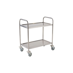Stainless Steel Trolley 85.5H x 53.5 x 93-2 shelves (Each) Stainless, Steel, Trolley, 85.5H, 53.5, 93-2, shelves, Nevilles