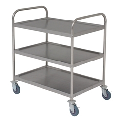 Stainless Steel Trolley 85.5H x 53.5 x 93-3 shelves (Each) Stainless, Steel, Trolley, 85.5H, 53.5, 93-3, shelves, Nevilles