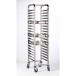 Stainless Steel. Gastronorm 1/1 Trolley 20 shelves (Each) Stainless, Steel., Gastronorm, 1/1, Trolley, 20, shelves, Nevilles
