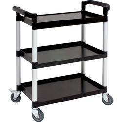 Compact 3 Tier Polypropylene Trolley (Each) Compact, 3, Tier, Polypropylene, Trolley, Nevilles