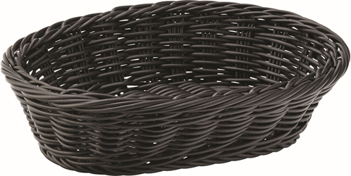 "Black Oval Basket 9"" / 23cm (6 Pack)"
