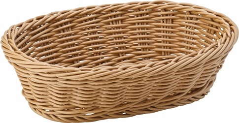"Caramel Oval Basket 9"" / 23cm (6 Pack)"