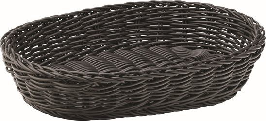 "Black Oval Basket 11.5"" / 29cm (6 Pack)"