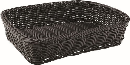"Black Rectangular Basket 11.5 x  8.5"" / 30 x 21.5cm (6 Pack)"