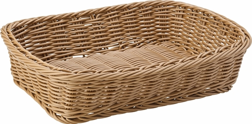 "Caramel Rectangular Basket 11.5 x 8.5"" / 30 x 21.5cm (6 Pack)"