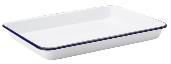 "Eagle Enamel Baking Tray 11 x 8.5"" / 28 x 21.5cm (6 Pack)"