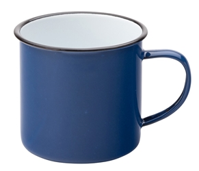 "Eagle Enamel Blue Mug 13.5oz / 38cl 3""?/ 8cm (6 Pack)"
