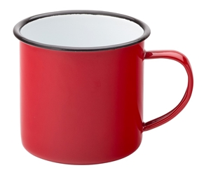 "Eagle Enamel Red Mug 13.5oz / 38cl 3""?/ 8cm (6 Pack)"