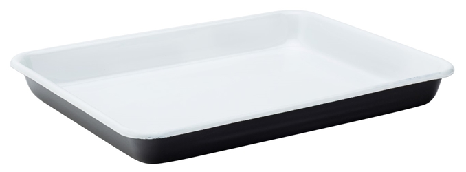 "Eagle Enamel Black Baking Tray 11"" / 28cm (6 Pack)"