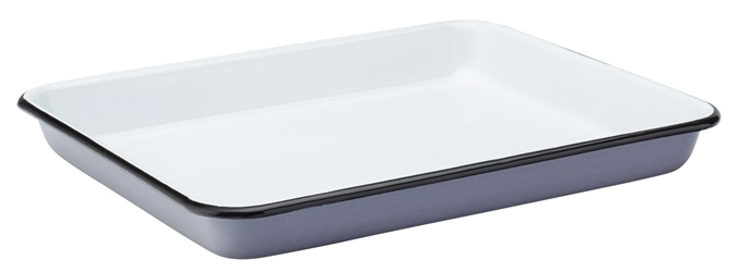 "Eagle Enamel Grey Baking Tray 11"" / 28cm (6 Pack)"