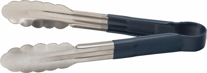 "Stainless Steel Serving Tongs 9.5"" / 24cm Blue (each)"