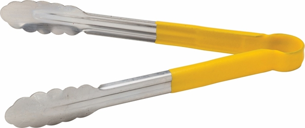 "Stainless Steel Serving Tongs 12"" / 30cm Yellow (each)"