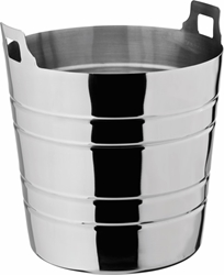 "Ribbed Wine Bucket 8"" / 20cm H: 7.5"" / 19cm (6 Pack)"
