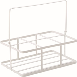 "White Metal Crate 6.75 x 4.5"" / 16 x 11cm (6 Pack)"