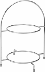 "Chrome 2 Tier Cake Plate Stand 12.5"" / 32cm - to hold 2 x 23cm Plates (each)"