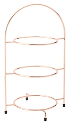 "Copper 3 Tier Plate Stand 16.5"" / 42cm - to hold 3 x 23cm Plates (each)"