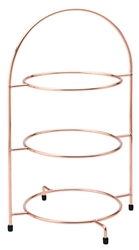 "Copper 3 Tier Plate Stand 17""?/ 43cm - to hold 3 x 25cm Plates (each)"