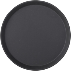 "Black Non Slip Tray Round 11"" / 28cm (12 Pack)"