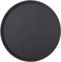 "Black Non Slip Tray Round 14"" / 35.5 cm (12 Pack)"