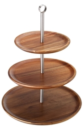 "3 Tiered Acacia Sharing Platter 12, 9.75, 8.25"" / 30.5, 25, 21cm (each)"