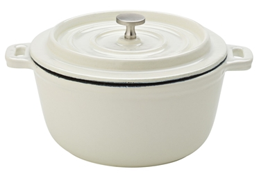 "Cast Iron Calico Round Casserole 5.5"" / 14cm (6 Pack)"