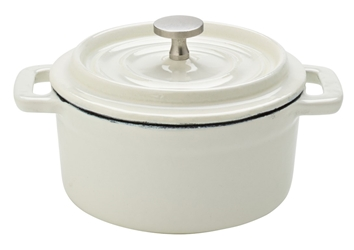 "Cast Iron Calico Round Casserole 4"" / 10cm 8oz / 23cl (6 Pack)"