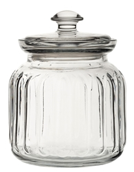 Viva Ribbed Storage Jar 31.5oz / 89.5cl  (6 Pack)