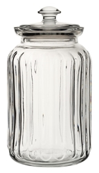 Viva Ribbed Storage Jar 52.75oz / 150cl (6 Pack)