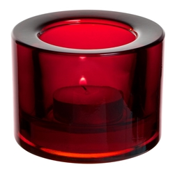 Chunky Tealight Holder - Red (12 Pack)
