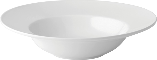"Deep Winged Pasta Plate 10"" / 25cm 17.5oz / 50cl (6 Pack)"