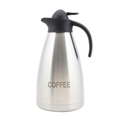 Coffee Inscribed Stainless Steel Contemporary Vac. Jug (Each) Coffee, Inscribed, Stainless, Steel, Contemporary, Vac., Jug, Nevilles