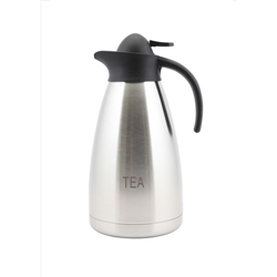 Tea Inscribed Stainless Steel Contemporary Vac. Jug 2.0 (Each) Tea, Inscribed, Stainless, Steel, Contemporary, Vac., Jug, 2.0, Nevilles