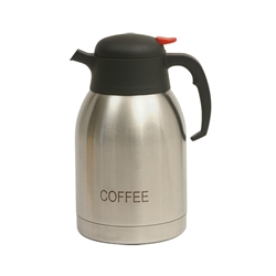 Coffee Inscribed Stainless Steel Vacuum Jug 2.0L (Each) Coffee, Inscribed, Stainless, Steel, Vacuum, Jug, 2.0L, Nevilles