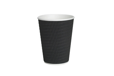 12oz Black Ripple Cup